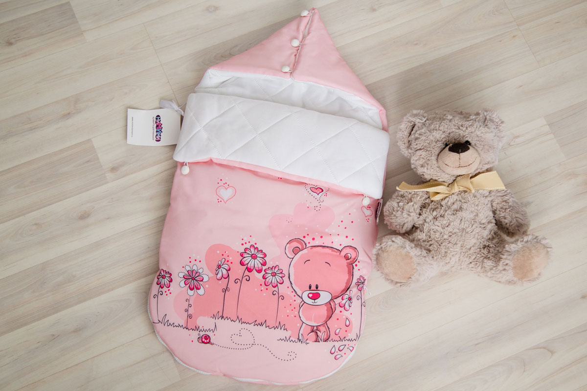 Купить Демисезонный конверт для новорожденного «Мишки для девочек», МиМиМи г. Рязань, Россия